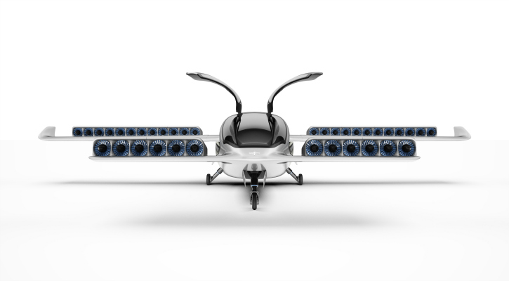 The VTOL prototype from Lilium Aviation