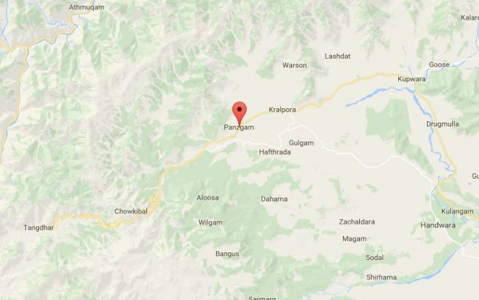 Panzgam area in Kupwara district