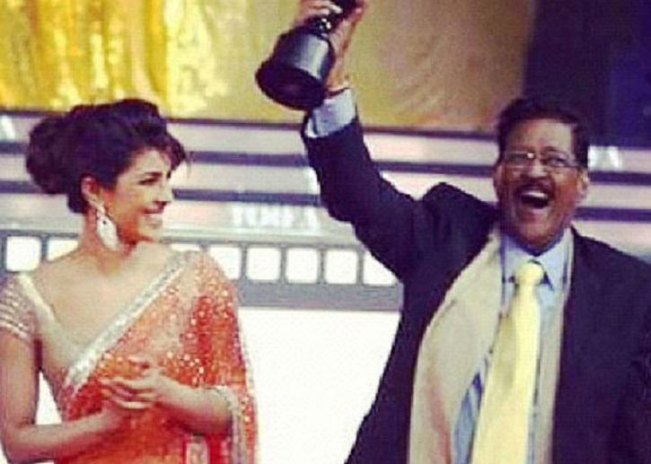 Priyanka Chopra with her dad