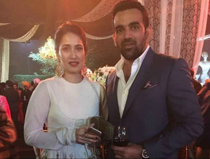 Sagarika and Zaheer Khan