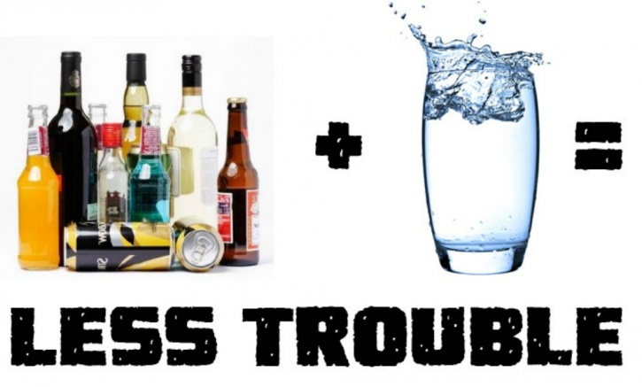 drink one glass of water with every alcoholic beverage you consume