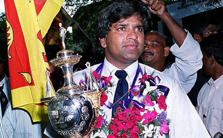 ranatunga with 1996 trophy