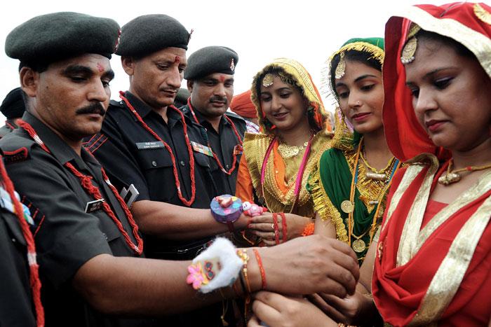 Rakhi On Jawans Wrists