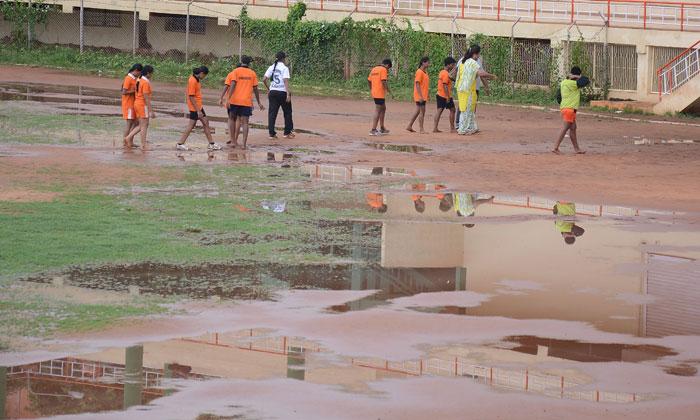 water in stadium