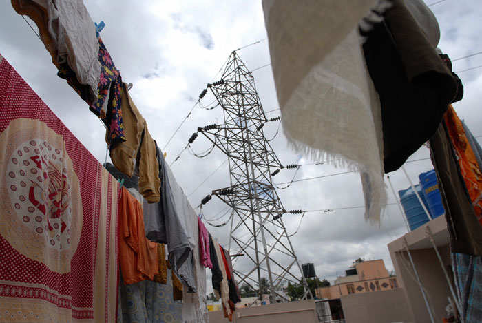 Woman Throws Nappy, Pulled In By High Tension Wire