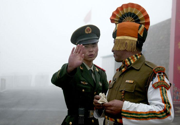 india china Ceremonial Border Meet