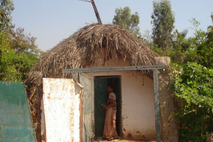 india rural house