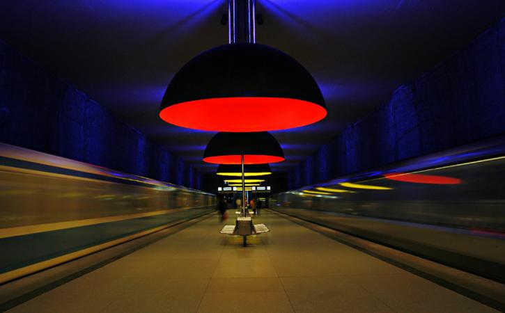 U-bahn Station Westfriedhof, Munich, Germany