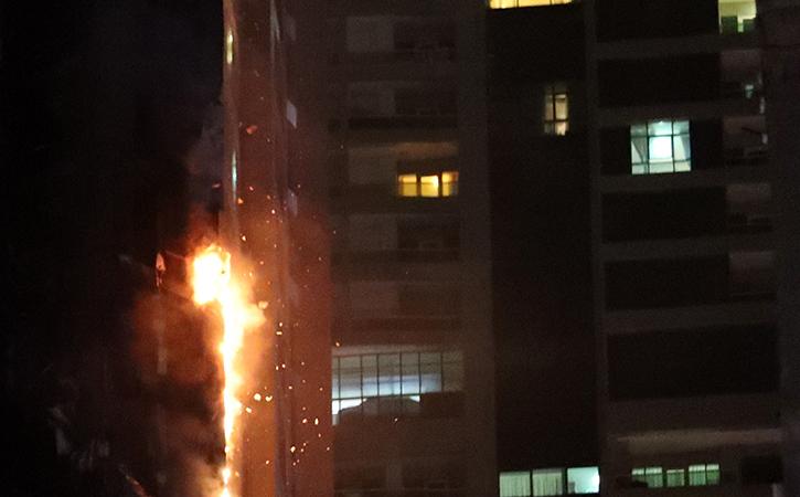 Fire on Skyscraper