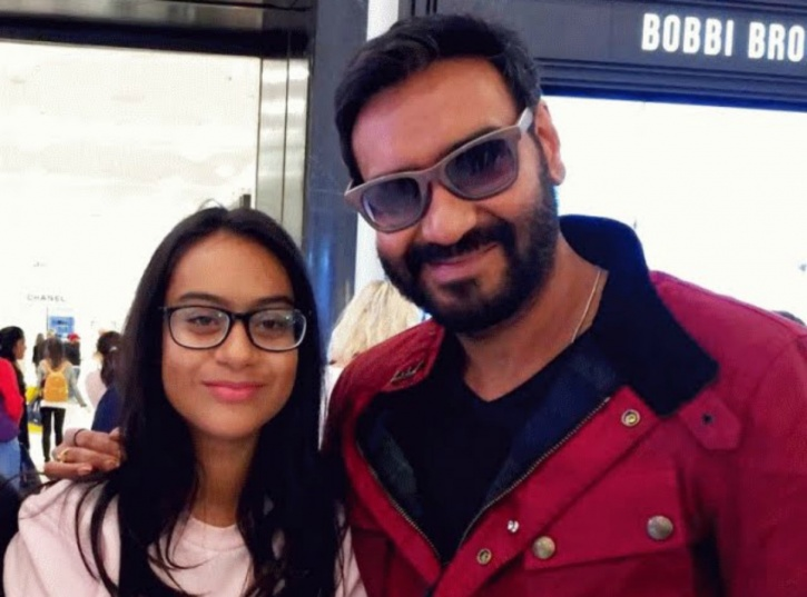 Ajay Devgn with daughter Nysaa