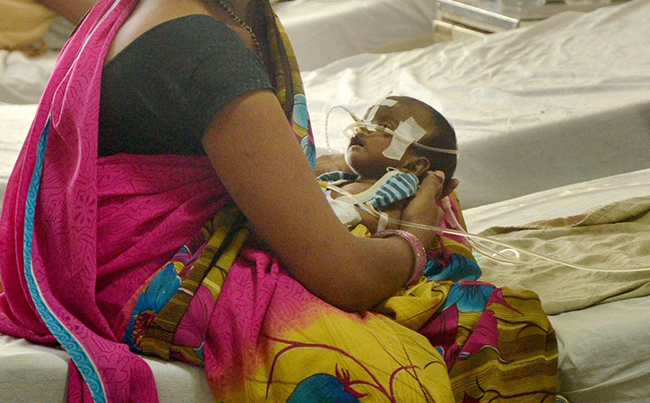 Kid in hospital