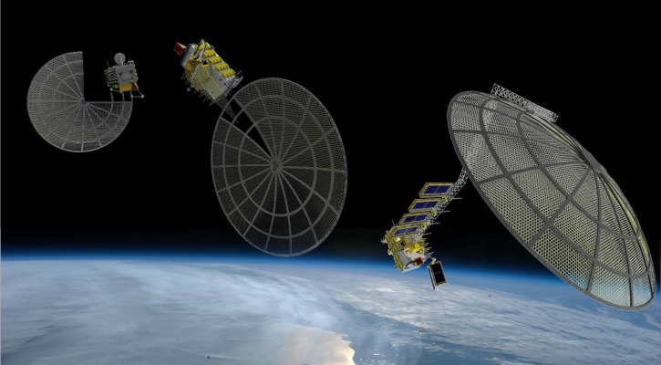 The Archinaut, depicted assembling a satellite array larger than itself - Made in Space