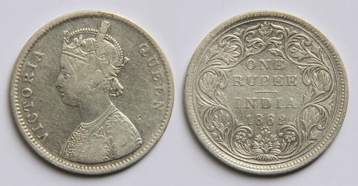 1862 coin of East India Company
