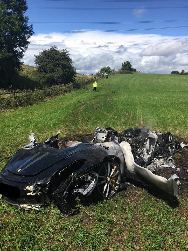 Ferrari 430 Spyder roasted
