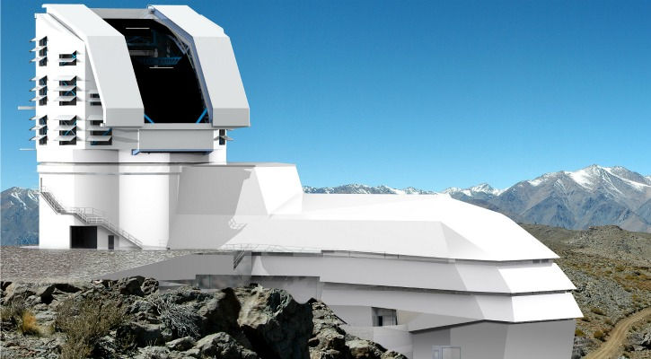 A concept render of what the LSST facility will eventually look like