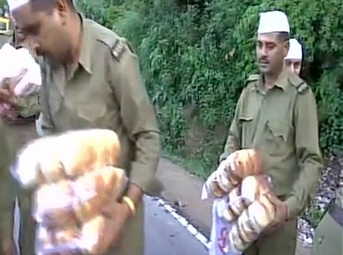 relief material brought in Mandi
