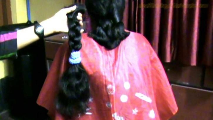 chopping off braids