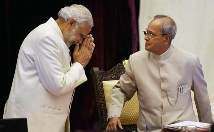 Modi with Pranab Mukherjee