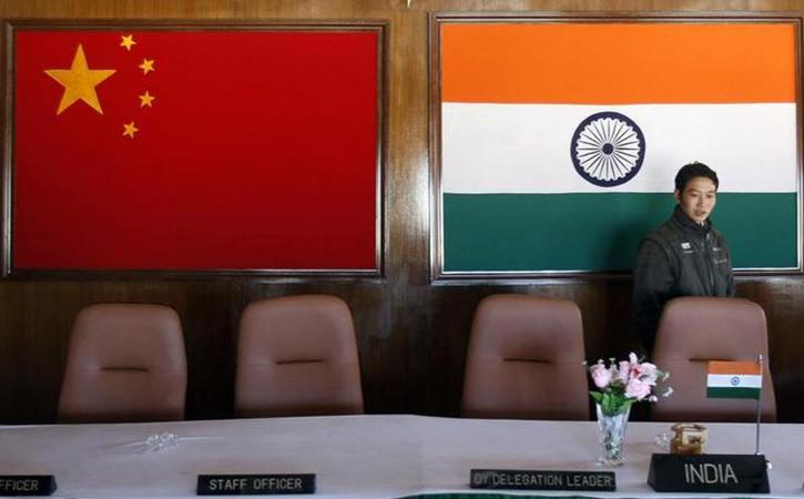 China indian flag