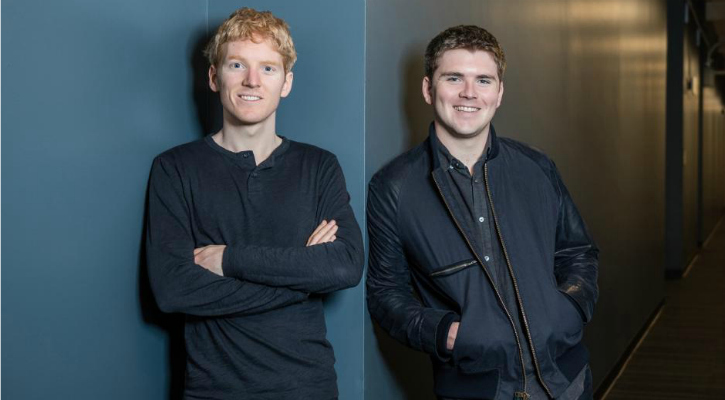 Patrick (L) and John Collison (R) - Reuters