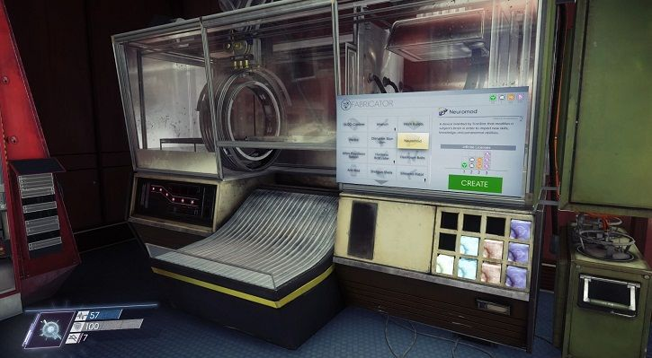 A fabricator on the space station in the game