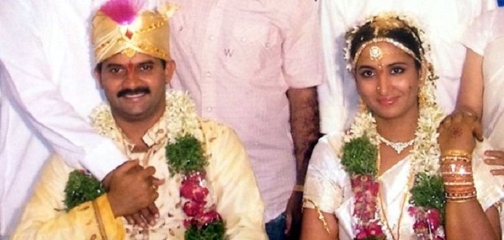 A picture of Telugu Actor Vijay Sai along with his wife Vanitha