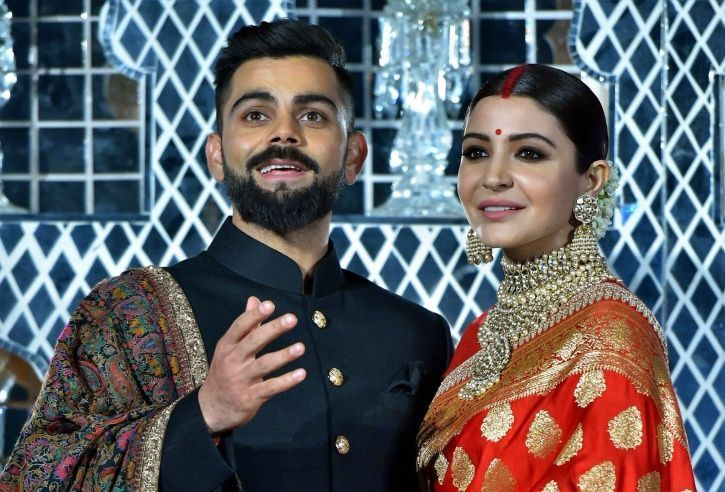 A picture of Virushka from their Mumbai reception.