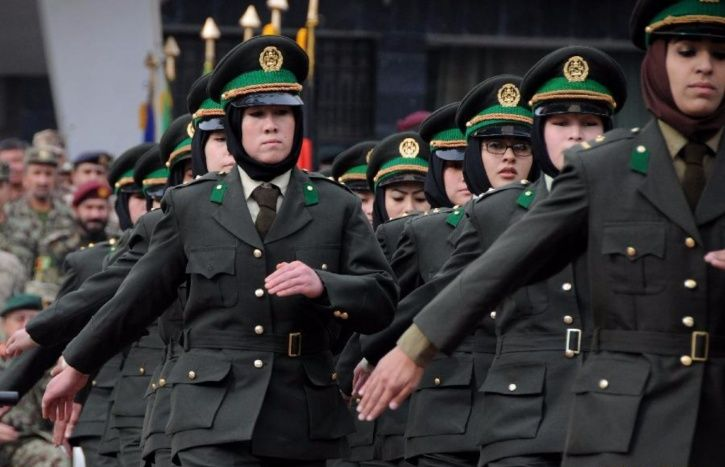 Afghan women military officers