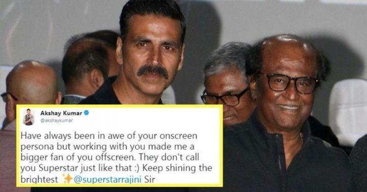 Akshay Kumar wishes Rajinikanth on his birthday today