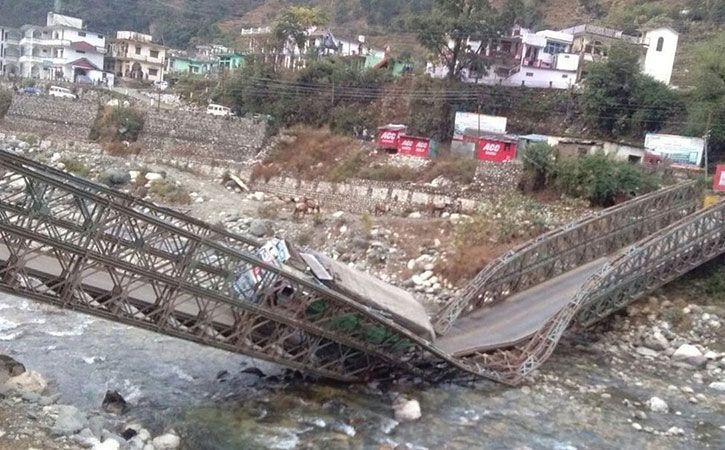 Bridge Linking Uttarkashi To China Border Collapses
