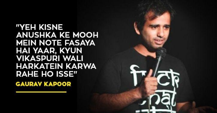Comedian Gaurav Kapoor on Virushka