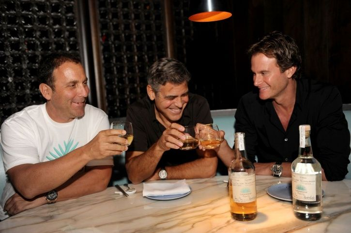 Geroge clooney with his friends