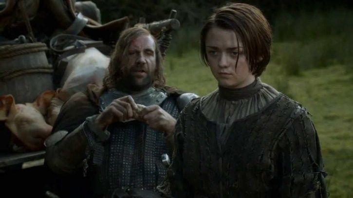 Hound and Arya Stark
