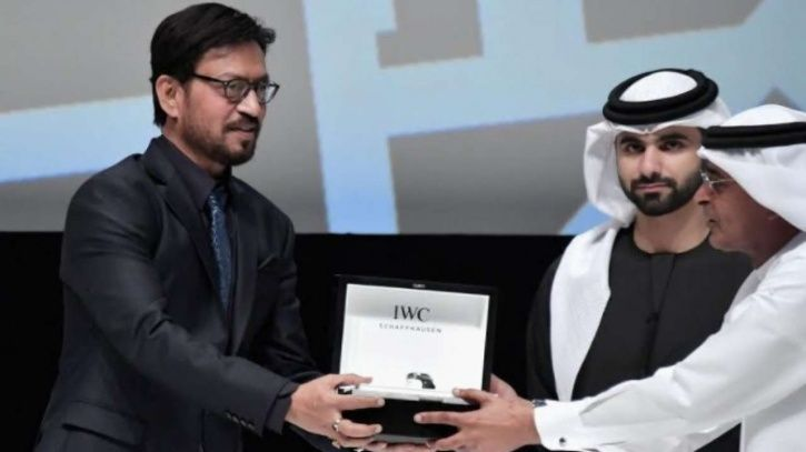 Irrfan Khan honoured at Dubai International Film Festival