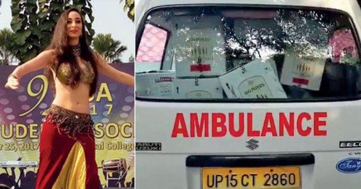 Liquor in ambulance