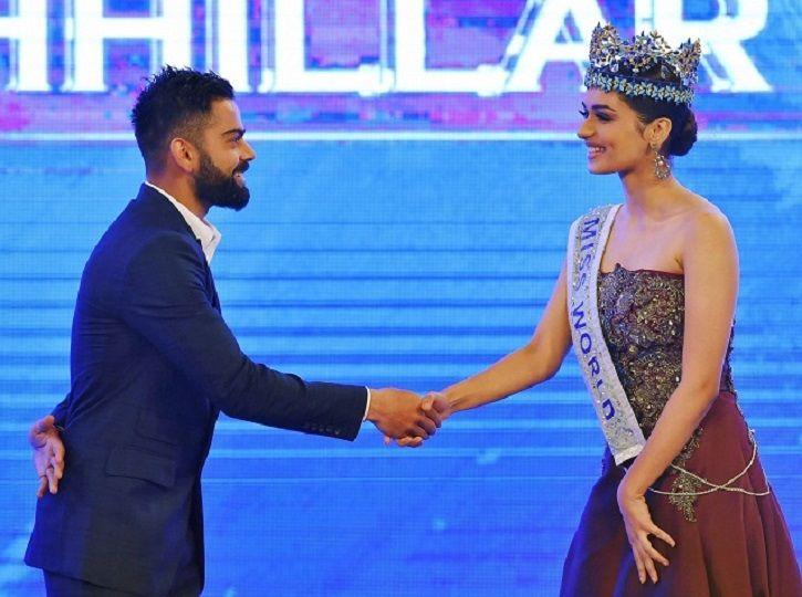 Manushi Chhillar meets Virat Kohli
