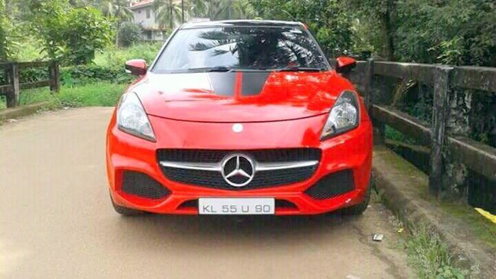 Maruti Baleno Modified To Look Like Mercedes A-Class