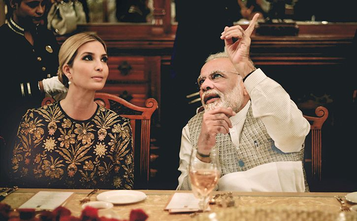 Modi-Ivanka Dinner's CCTV Feed Goes Live On TV