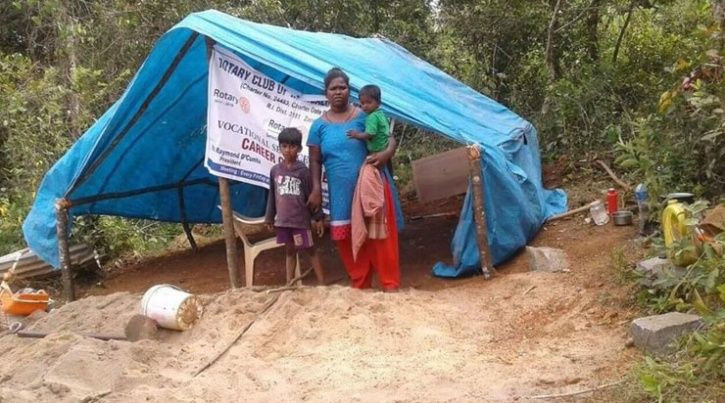 Once MNC staffers couple now lives in tent
