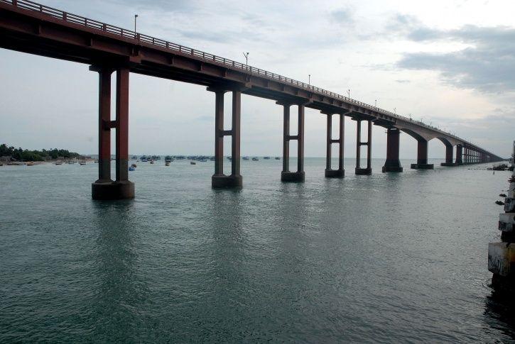 Pamban Bridge in Tamilnadu