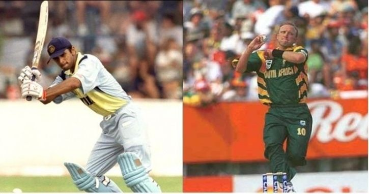 Rahul Dravid made 84 vs South Africa in 1997