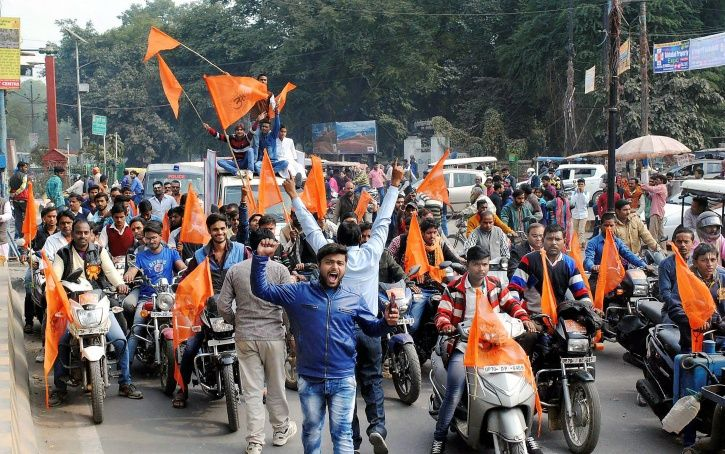Right Wing Groups Protest Love Jihad