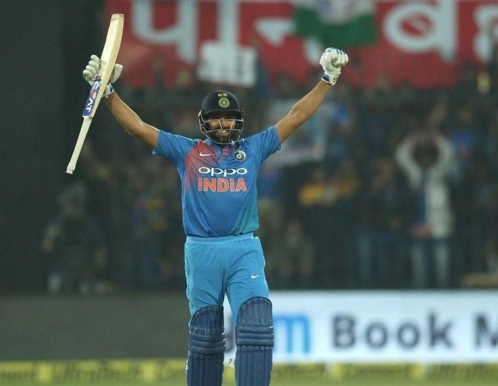 Rohit Sharma slammed a hundred in 35 balls