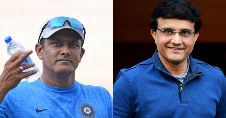 Sourav Ganguly and anil Kumble