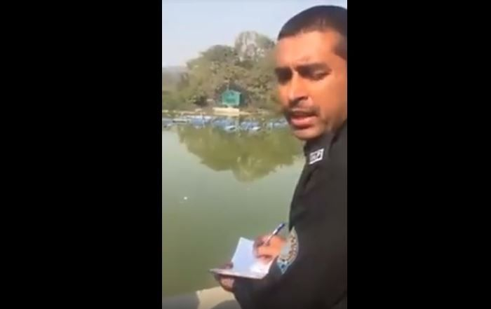 Video Of Haryana Cops Moral Policing Young Couple Goes Viral