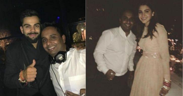 Virat Kohli and Anushka Sharma at a DJ party post their wedding