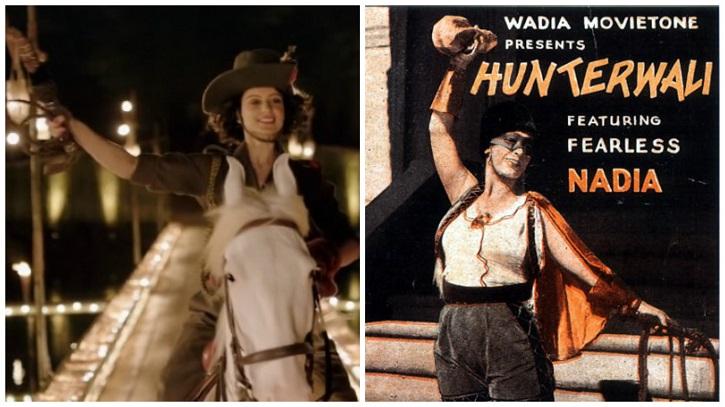 Stills From Rangoon and Fearless Nadia