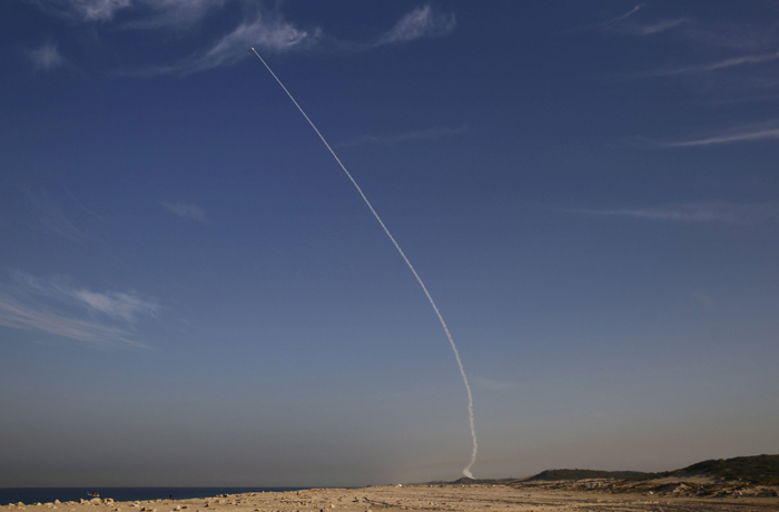 interceptor missile test