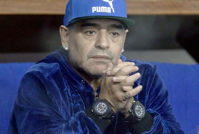 Madrid police talk to Maradona