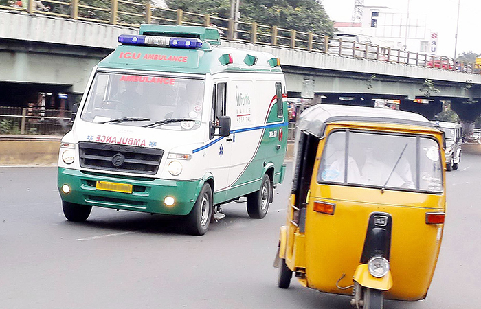 Ambulance and Auto